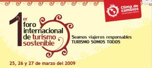1er Foro internacional de Turismo Sostenible PUCP